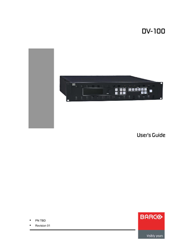 Barco DV-100 LED-Display Processor User's Guide