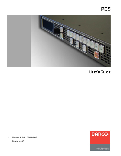 Barco PDS Digital and Analog Video Switcher User's Guide