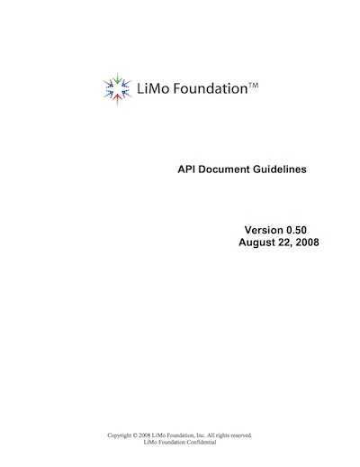 Linux Mobile (LiMo) API Document Guidelines