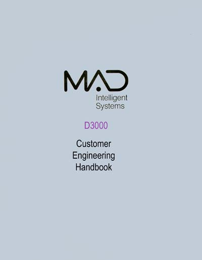 MAD Intelligent Systems D3000 System Customer Engineer's Manual