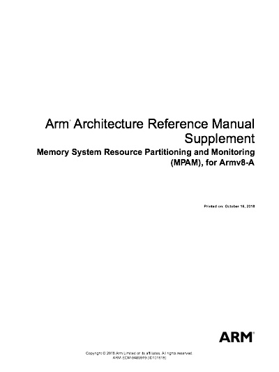 Arm Architecture Reference Manual Supplement - MPAM