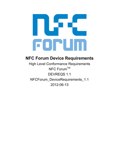 NFC Forum Device Requirements