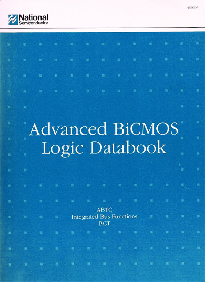 TI National Semiconductor FASTr Advanced BiCMOS Logic Databook