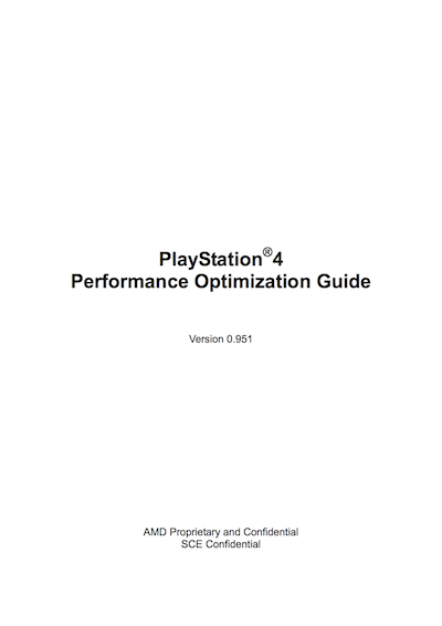Sony PlayStation 4 Performance Optimization Guide