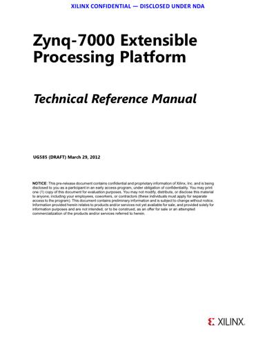 Technical Writer, Xilinx Zynq-7000 FPGA ARM Cortex-9 Manual