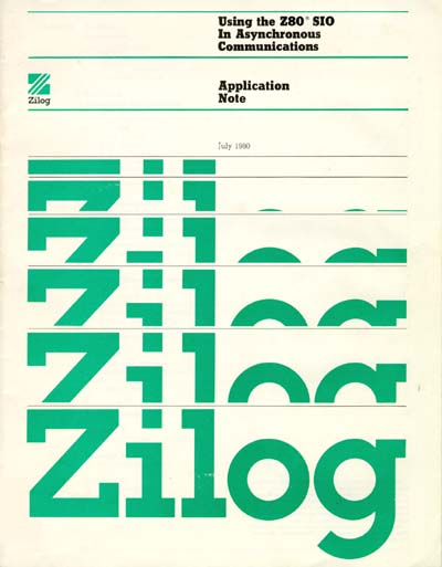 Zilog Z80 Serial I/O (SIO) Application Note